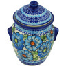 7-inch Stoneware Jar with Lid and Handles - Polmedia Polish Pottery H0833H