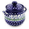 7-inch Stoneware Jar with Lid and Handles - Polmedia Polish Pottery H1637C