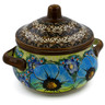 7-inch Stoneware Jar with Lid and Handles - Polmedia Polish Pottery H7200J