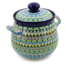 7-inch Stoneware Jar with Lid and Handles - Polmedia Polish Pottery H7641J