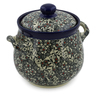 7-inch Stoneware Jar with Lid and Handles - Polmedia Polish Pottery H7642J