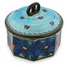 7-inch Stoneware Jar with Lid - Polmedia Polish Pottery H0864E