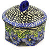 7-inch Stoneware Jar with Lid - Polmedia Polish Pottery H0870E