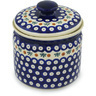 7-inch Stoneware Jar with Lid - Polmedia Polish Pottery H1247H