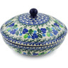 7-inch Stoneware Jar with Lid - Polmedia Polish Pottery H5897J