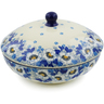 7-inch Stoneware Jar with Lid - Polmedia Polish Pottery H5899J