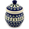 7-inch Stoneware Jar with Lid - Polmedia Polish Pottery H6748C