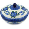 7-inch Stoneware Jar with Lid - Polmedia Polish Pottery H8648H