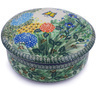 7-inch Stoneware Jar with Lid - Polmedia Polish Pottery H9358G