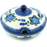 7-inch Stoneware Jar with Lid with Opening - Polmedia Polish Pottery H8415H