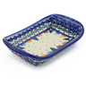 7-inch Stoneware Platter with Handles - Polmedia Polish Pottery H1027F