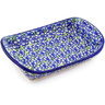 7-inch Stoneware Platter with Handles - Polmedia Polish Pottery H1989G