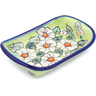 7-inch Stoneware Platter with Handles - Polmedia Polish Pottery H2722J