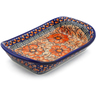 7-inch Stoneware Platter with Handles - Polmedia Polish Pottery H6951E