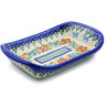 7-inch Stoneware Platter with Handles - Polmedia Polish Pottery H6969I