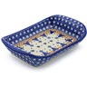 7-inch Stoneware Platter with Handles - Polmedia Polish Pottery H8765E