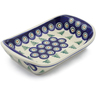 7-inch Stoneware Platter with Handles - Polmedia Polish Pottery H8766E