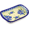 7-inch Stoneware Platter with Handles - Polmedia Polish Pottery H9161F