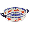 7-inch Stoneware Round Baker with Handles - Polmedia Polish Pottery H0818K