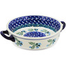 7-inch Stoneware Round Baker with Handles - Polmedia Polish Pottery H0819K