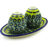 7-inch Stoneware Salt and Pepper Set - Polmedia Polish Pottery H0469F
