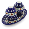 7-inch Stoneware Salt and Pepper Set - Polmedia Polish Pottery H1466J