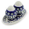 7-inch Stoneware Salt and Pepper Set - Polmedia Polish Pottery H2450D