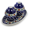 7-inch Stoneware Salt and Pepper Set - Polmedia Polish Pottery H2518D