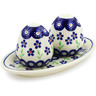 7-inch Stoneware Salt and Pepper Set - Polmedia Polish Pottery H4478J