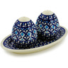 7-inch Stoneware Salt and Pepper Set - Polmedia Polish Pottery H4479J