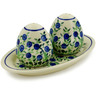 7-inch Stoneware Salt and Pepper Set - Polmedia Polish Pottery H4481J