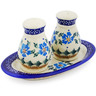 7-inch Stoneware Salt and Pepper Set - Polmedia Polish Pottery H4677K
