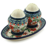 7-inch Stoneware Salt and Pepper Set - Polmedia Polish Pottery H4865I