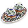 7-inch Stoneware Salt and Pepper Set - Polmedia Polish Pottery H5973I