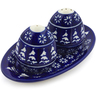 7-inch Stoneware Salt and Pepper Set - Polmedia Polish Pottery H5975I