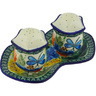 7-inch Stoneware Salt and Pepper Set - Polmedia Polish Pottery H6699G