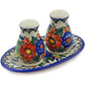 7-inch Stoneware Salt and Pepper Set - Polmedia Polish Pottery H6947K
