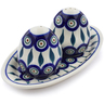 7-inch Stoneware Salt and Pepper Set - Polmedia Polish Pottery H8197A