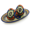 7-inch Stoneware Salt and Pepper Set - Polmedia Polish Pottery H8199I