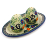 7-inch Stoneware Salt and Pepper Set - Polmedia Polish Pottery H8202I