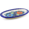 7-inch Stoneware Salt and Pepper Tray - Polmedia Polish Pottery H0786K