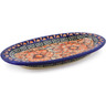 7-inch Stoneware Salt and Pepper Tray - Polmedia Polish Pottery H0792K
