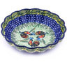 7-inch Stoneware Scalloped Bowl - Polmedia Polish Pottery H0003G