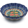 7-inch Stoneware Scalloped Bowl - Polmedia Polish Pottery H0034J