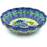 7-inch Stoneware Scalloped Bowl - Polmedia Polish Pottery H0389I