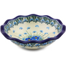 7-inch Stoneware Scalloped Bowl - Polmedia Polish Pottery H0845I
