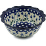 7-inch Stoneware Scalloped Bowl - Polmedia Polish Pottery H0909B