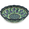 7-inch Stoneware Scalloped Bowl - Polmedia Polish Pottery H1593K