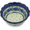 7-inch Stoneware Scalloped Bowl - Polmedia Polish Pottery H1808K