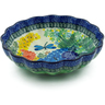 7-inch Stoneware Scalloped Bowl - Polmedia Polish Pottery H2321B